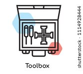toolbox icon vector isolated on ... | Shutterstock .eps vector #1114928444