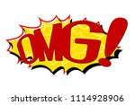 comic text speech. icon... | Shutterstock .eps vector #1114928906