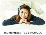 beautiful attractive asian... | Shutterstock . vector #1114929200