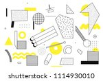 universal trend halftone... | Shutterstock .eps vector #1114930010