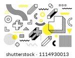 universal trend halftone... | Shutterstock .eps vector #1114930013