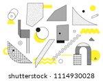 universal trend halftone... | Shutterstock .eps vector #1114930028