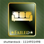 gold badge with gold shiny... | Shutterstock .eps vector #1114931498