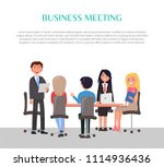 business meeting poster with...   Shutterstock .eps vector #1114936436