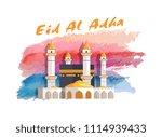 eid al adha muslim holiday...   Shutterstock .eps vector #1114939433