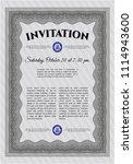 grey formal invigrey formal... | Shutterstock .eps vector #1114943600