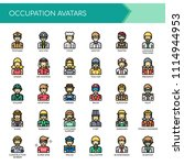occupation avatars   thin line... | Shutterstock .eps vector #1114944953