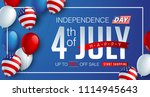 independence day usa sale... | Shutterstock .eps vector #1114945643