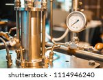 steel pipe on the cover of the... | Shutterstock . vector #1114946240