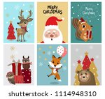christmas greeting card with... | Shutterstock .eps vector #1114948310
