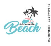 take me to the beach banner | Shutterstock .eps vector #1114949543