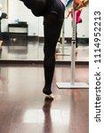 a ballerina dancing  closeup on ... | Shutterstock . vector #1114952213