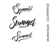 summer. set of summer script... | Shutterstock .eps vector #1114955510