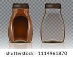 coffee glass jar with instant... | Shutterstock .eps vector #1114961870