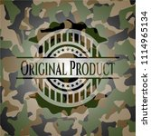 original product on camo texture | Shutterstock .eps vector #1114965134