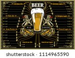beer menu or pub placemat for... | Shutterstock .eps vector #1114965590