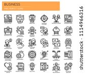 business elements   thin line... | Shutterstock .eps vector #1114966316