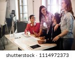 creative young business people... | Shutterstock . vector #1114972373