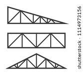 roof metal trusses... | Shutterstock .eps vector #1114973156