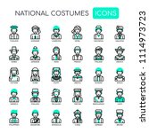 national costumes   thin line... | Shutterstock .eps vector #1114973723