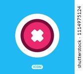 cancel vector icon   Shutterstock .eps vector #1114975124