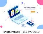 smartphone safe certificate ... | Shutterstock .eps vector #1114978010