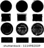 grunge post stamps collection ... | Shutterstock .eps vector #1114982039