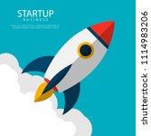 startup business. rocket launch | Shutterstock .eps vector #1114983206