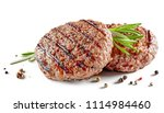 freshly grilled burger meat... | Shutterstock . vector #1114984460