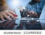 seo optimization for website...   Shutterstock . vector #1114985303