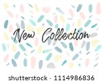 pastel abstract brush stroke... | Shutterstock .eps vector #1114986836