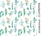watercolor leaves hand painted... | Shutterstock . vector #1114989998