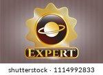 shiny badge wit shiny badge... | Shutterstock .eps vector #1114992833