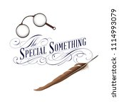 lettering design with glasses... | Shutterstock .eps vector #1114993079