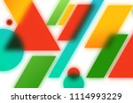 abstract blurred geometric... | Shutterstock . vector #1114993229