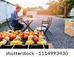 assorted delicious barbecue... | Shutterstock . vector #1114993430