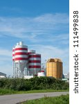 storage tanks with red stripes... | Shutterstock . vector #111499838