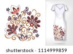 embroidery colorful trend... | Shutterstock .eps vector #1114999859