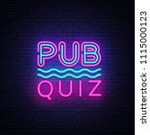 pub quiz night announcement... | Shutterstock .eps vector #1115000123