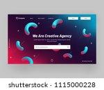 responsive website banner or... | Shutterstock .eps vector #1115000228