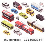 public transport including bus  ... | Shutterstock .eps vector #1115003369