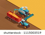 agricultural machines isometric ... | Shutterstock .eps vector #1115003519