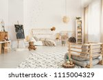 kid's room interior with a... | Shutterstock . vector #1115004329