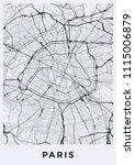 paris city map. map of paris ... | Shutterstock .eps vector #1115006879
