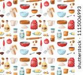 baking pastry prepare cooking... | Shutterstock .eps vector #1115006993
