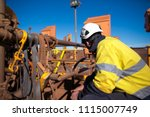 industrial rope access miner... | Shutterstock . vector #1115007749