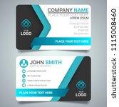 blue modern creative business... | Shutterstock .eps vector #1115008460