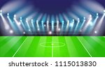 soccer or football stadium... | Shutterstock .eps vector #1115013830
