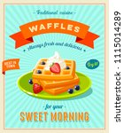 best breakfast   vintage... | Shutterstock . vector #1115014289