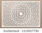 decorative card for cutting.... | Shutterstock .eps vector #1115017730